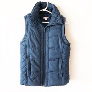 Bongo Blue Quilted Puffer Vest